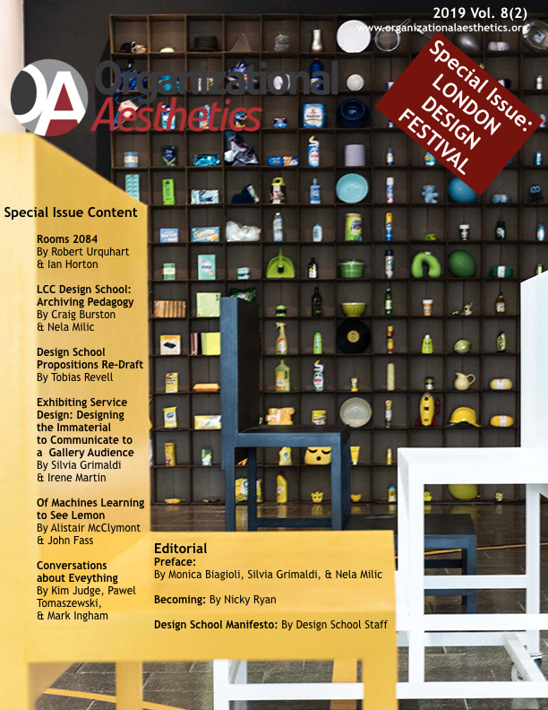 Organizational Aesthetics Cover Issue Vol. 8(2)