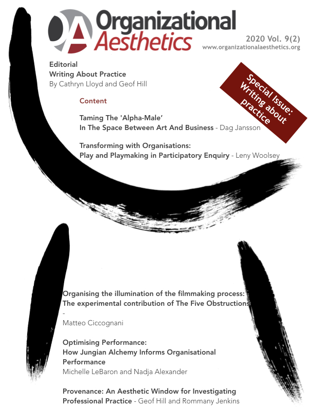 Organizational Aesthetics Cover Issue Vol. 9(2)