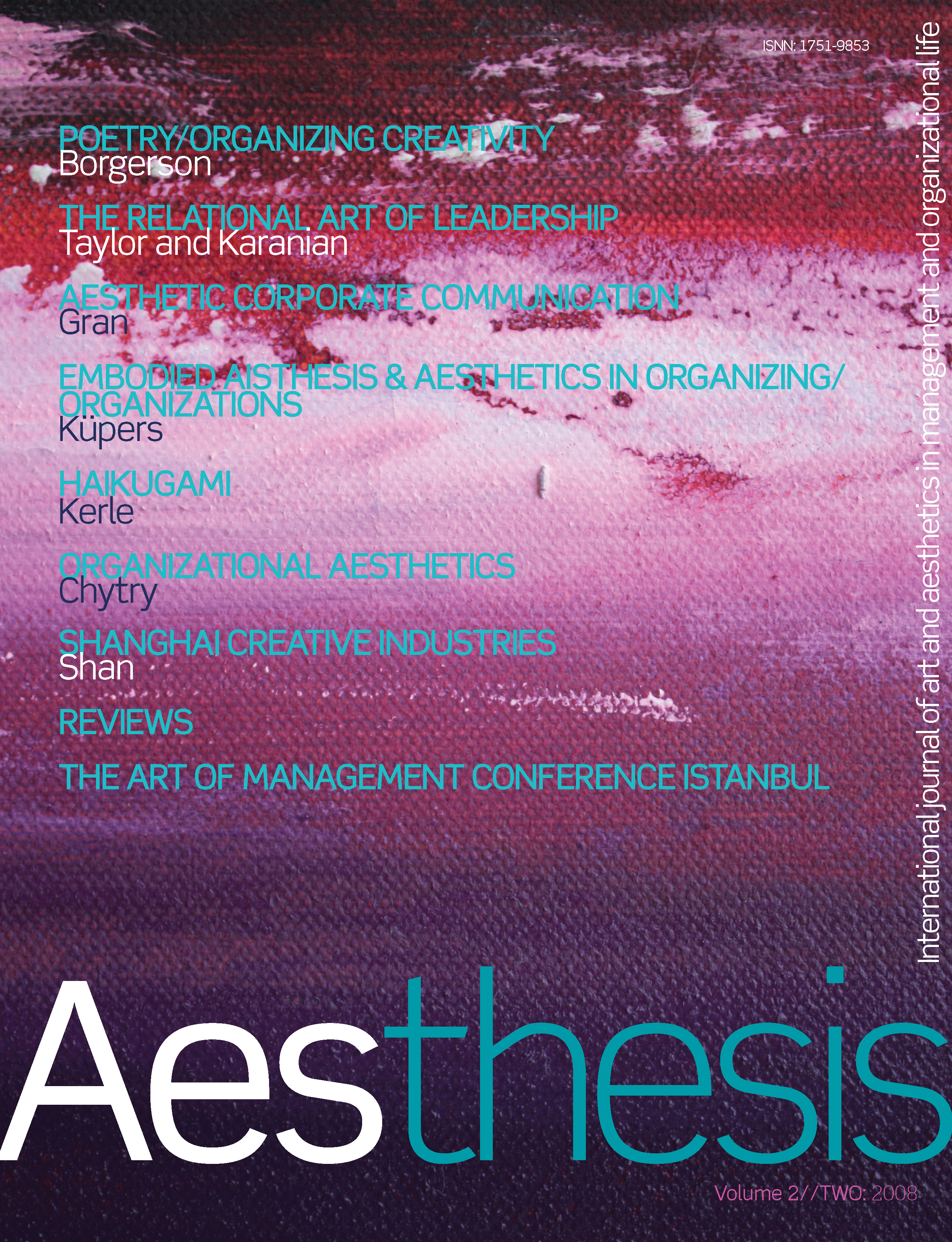Aesthesis Vol. 2 Iss. 2