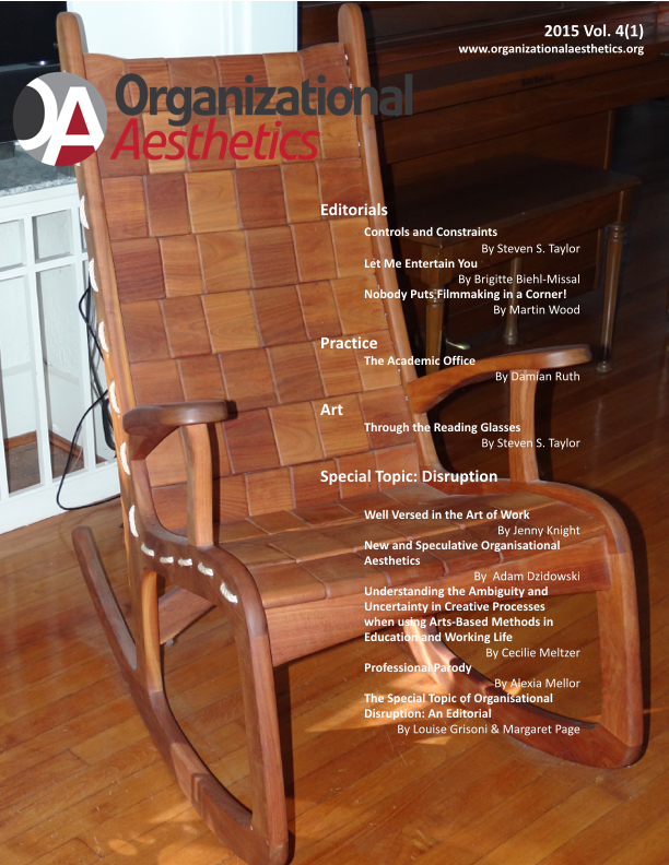 Organizational Aesthetics Cover Issue Vol. 4(1)