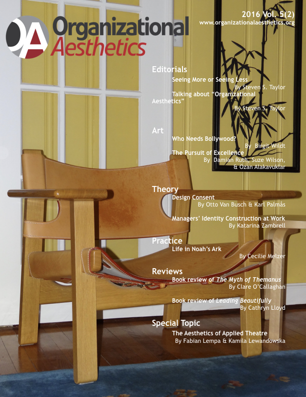 Organizational Aesthetics Cover Issue Vol. 5(2)