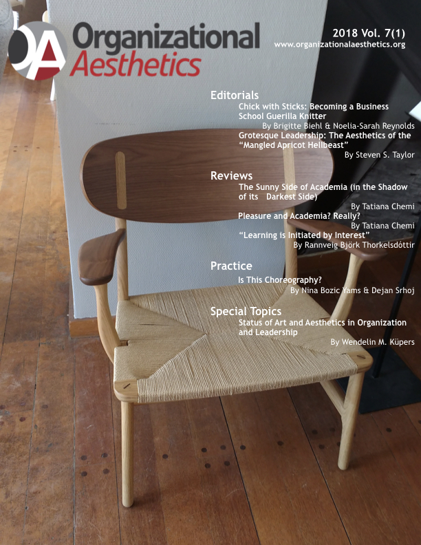 Organizational Aesthetics Cover Issue Vol. 7(1)