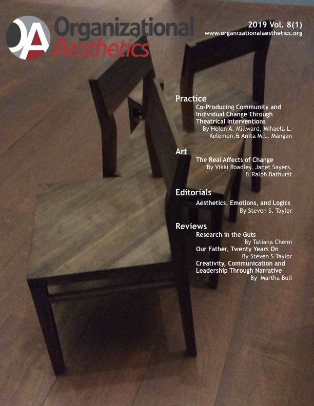 Organizational Aesthetics Cover Issue Vol. 8(1)
